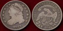 Us Coins - 1832 BUST 10c  FINE+