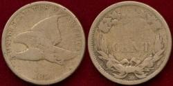 Us Coins - 1858 sm. ltrs. FLYING EAGLE 1c  GOOD