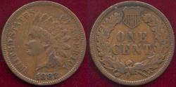 Us Coins - 1882 INDIAN 1c  VF30