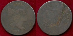 Us Coins - 1797  1/2c .....  FINE