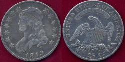 Us Coins - 1819 Large sized BUST 25c  VF