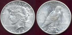 Us Coins - 1928-S PEACE DOLLAR  AU58   WHITE