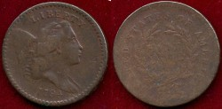 Us Coins - 1794  1/2c ....  VERY FINE