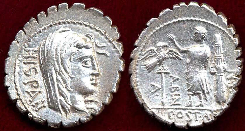Ancient Coins - A.POSTUMIUS A.f.Sp n.Albinus  81 BC.  Denarius