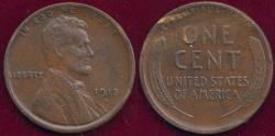 Us Coins - 1913-D LINCOLN 1c  VF30