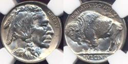 Us Coins - 1919 BUFFALO 5c NGC MS64    VERY SHARP!