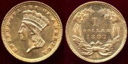 Us Coins - 1883 GOLD $1 PRINCESS   MS60