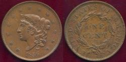 Us Coins - 1836 LARGE CENT  MS61BN