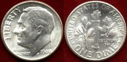 Us Coins - 1949-D  10c .... GEM UNCIRCULATED