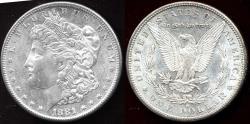 Us Coins - 1881-S MORGAN DOLLAR  MS64+ WHITE