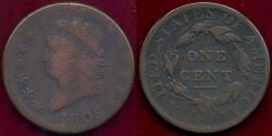 Us Coins - 1808 LARGE CENT  VG...  strong  date
