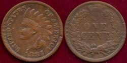 Us Coins - 1885 INDIAN 1c VF