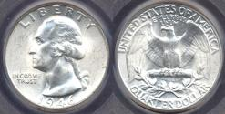 Us Coins - 1946-D WASHINGTON 25c  PCGS MS66  WHITE