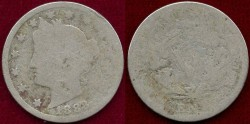 Us Coins - 1883 WITH CENTS  5c  Liberty type  AG