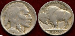 Us Coins - 1918-D BUFFALO 5c ......   Choice VERY GOOD
