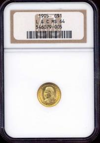 US Coins - 1905 LEWIS & CLARK EXPO  $1 GOLD  NGC MS64
