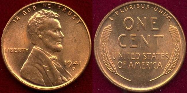 US Coins - 1941-D  1c  GEM UNCIRCULATED