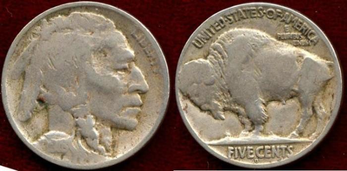 US Coins - 1918-D BUFFALO 5c ......   Choice VERY GOOD
