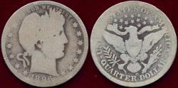 Us Coins - 1896-O BARBER QUARTER  AG