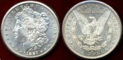 Us Coins - 1887-S  Morgan $1 ....   PCGS MS63  CHOICE BU