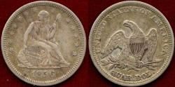 Us Coins - 1856  SEATED 25c ......  CHOICE EXTRA FINE