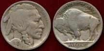 Us Coins - 1923-S BUFFALO 5c  VG