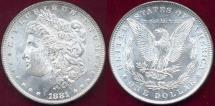 Us Coins - 1881 MORGAN $1 MS64