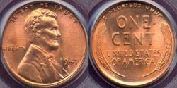 Us Coins - 1947-D LINCOLN CENT MS66RD PCGS