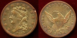 Us Coins - 1836 Classic  $2 1/2 GOLD  VF
