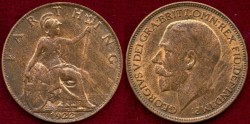 World Coins - GREAT BRITAIN 1922  FARTHING.... UNCIRCULATED