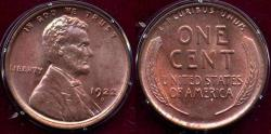 Us Coins - 1922-D LINCOLN CENT  MS64RD ... Strong Strike