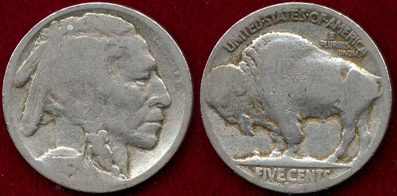 US Coins - 1915-S BUFFALO 5c  GOOD