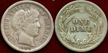 Us Coins - 1906-O  BARBER 10c  VERY FINE
