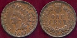 Us Coins - 1897 INDIAN CENT MS62BN