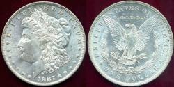 Us Coins - 1887-O MORGAN DOLLAR MS63  ... WHITE
