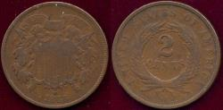 Us Coins - 1868 TWO CENT VG