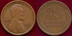 Us Coins - 1914-D LINCOLN 1c   FINE Details