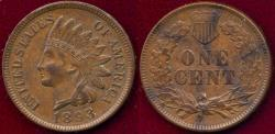 Us Coins - 1893 INDIAN 1c MS63BN