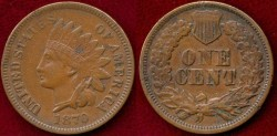 Us Coins - 1870 INDIAN 1c ....  EXTRA FINE 45