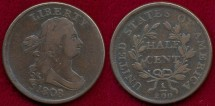 Us Coins - 1808/7  1/2c ...  VERY FINE
