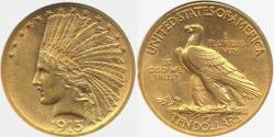 Us Coins - 1915 $10 INDIAN GOLD... AU58  ANACS .... SCARCER DATE
