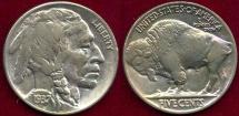 Us Coins - 1937 BUFFALO 5c   Very Near UNC