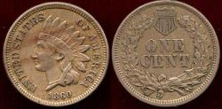 Us Coins - 1860 INDIAN 1c XF45