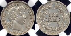Us Coins - 1900-O BARBER 10c  NGC XF45