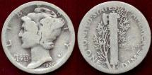1926-S MERCURY 10c  GOOD/AG