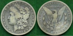 Us Coins - 1893-S  MORGAN $1 .....  FINE  PCGS certified