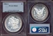 Us Coins - 1886-S  MORGAN $1 ....  PCGS MS63