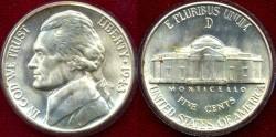 Us Coins - 1943-D  Jefferson 5c ...... GEM  BU