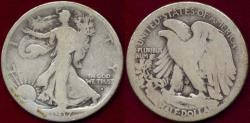 Us Coins - 1917-S OBV.  WALKING LIBERTY 50c   GD-