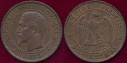 World Coins - FRANCE 1953-B  10 CENTIMES  XF